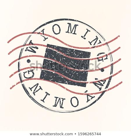 Goma tinta sello Wyoming texto Foto stock © Bigalbaloo