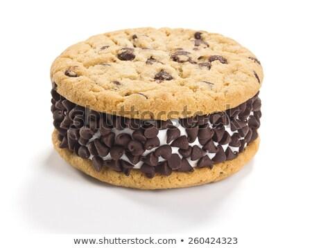 csokoládé · chip · süti · fagylalt · szendvics · izolált - stock fotó © rojoimages