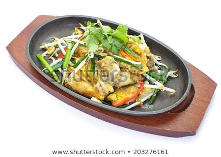 ぱりぱり カキ 豆 芽 食品 海 ストックフォト © art9858