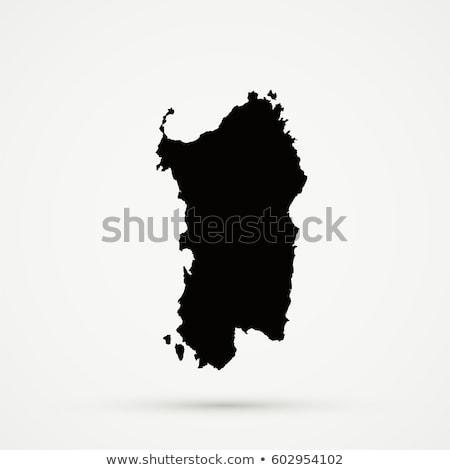 Map of Sardinia Stock photo © rbiedermann