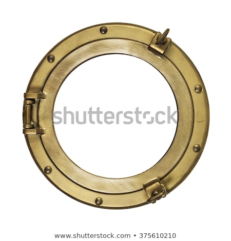 Ship metal porthole on white background Stock photo © m_pavlov