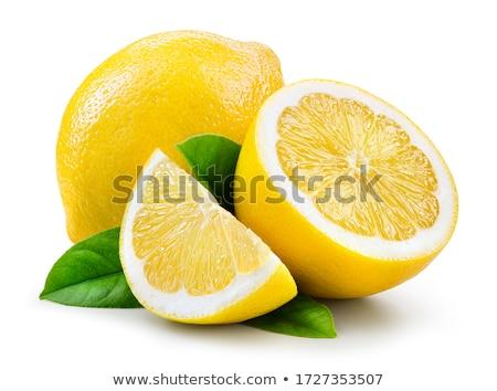 лимона белый листьев изолированный иллюстрация фрукты Сток-фото © ConceptCafe