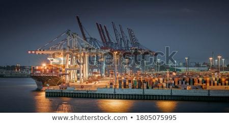 panoramă · oraş · New · Jersey · orizont · prim · plan - imagine de stoc © benkrut