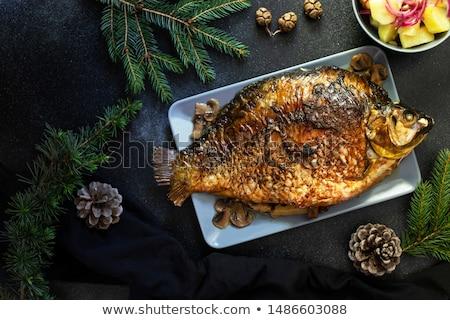 Karper voedsel groene lunch botten Stockfoto © Digifoodstock