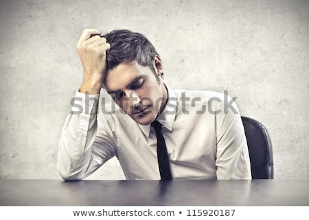 portrait of sad businessman men Stock photo © mizar_21984