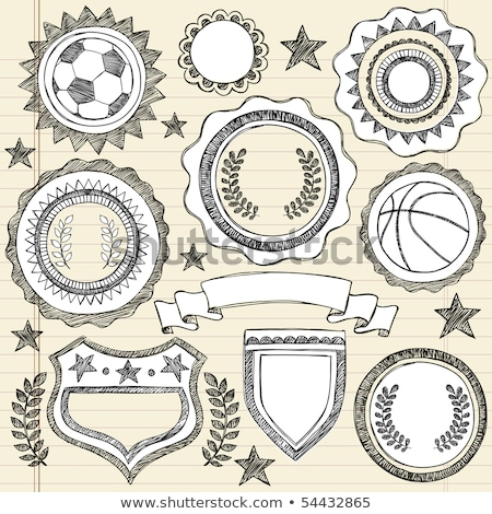 vektor · futball · kitűző · embléma · terv · űr - stock fotó © rastudio