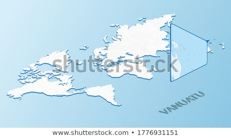 Isometric map of Vanuatu detailed vector illustration Stock photo © tkacchuk