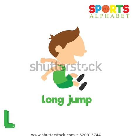 Flashcard letter L is for long Stock photo © bluering