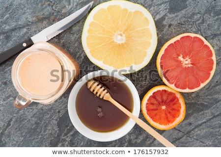 Vers robijn grapefruit sap bamboe Stockfoto © ozgur