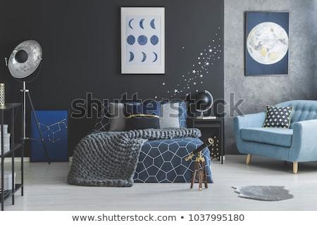 Projeto estrelas ouro azul preto contraste Foto stock © blackmoon979
