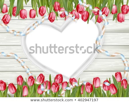 coração · grande · marrom · branco · casamento - foto stock © beholdereye