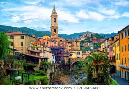 dolcedo little italian town in the maritime alps mountain in li stock photo © xantana