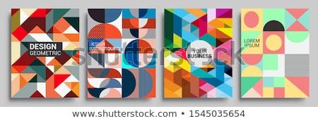 retro · geométrico · formas · colorido · mosaico · banner - foto stock © fresh_5265954