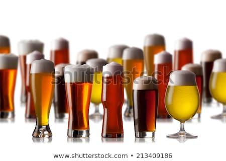 Közelkép sör szemüveg pult kocsma bár Stock fotó © deandrobot