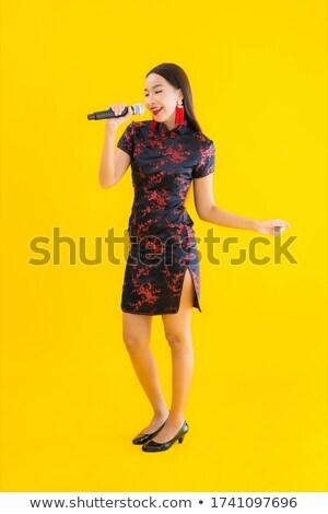 Jonge vrouwelijke zanger zingen muziek concert Stockfoto © wavebreak_media