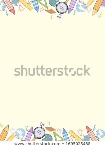 clipboard with pencil and blank graph paper stock photo © make