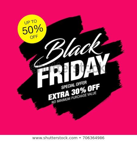 Rajz black friday vásár logo fehér papír Stock fotó © romvo