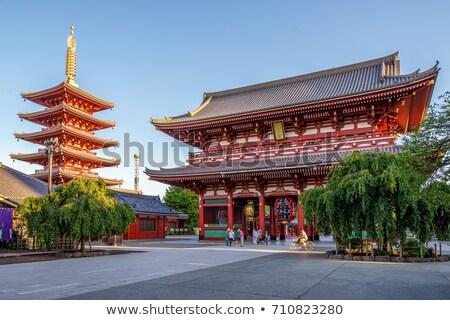 пагода · закат · храма · Токио · Япония · свет - Сток-фото © daboost