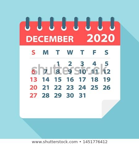 календаря декабрь красный Сток-фото © devon