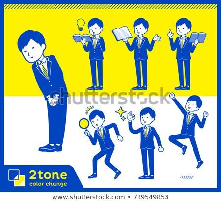 2tone type suit businessman_set 5 Stock photo © toyotoyo