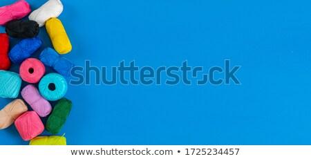 Wełny szczegół kolorowy kolor materiału Zdjęcia stock © boggy
