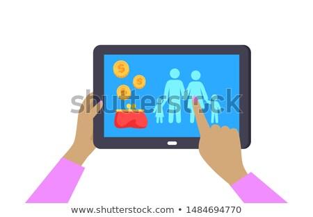 laptop · escuro · ver · espaço · abstrato - foto stock © robuart