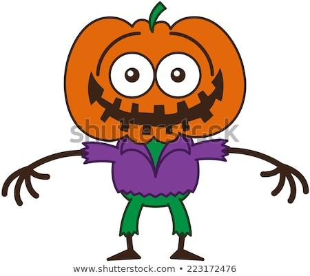 Surprised Cartoon Scarecrow Foto stock © zooco