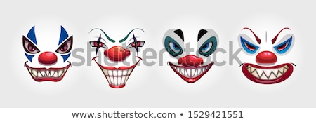 Boos cartoon clown illustratie naar Stockfoto © cthoman