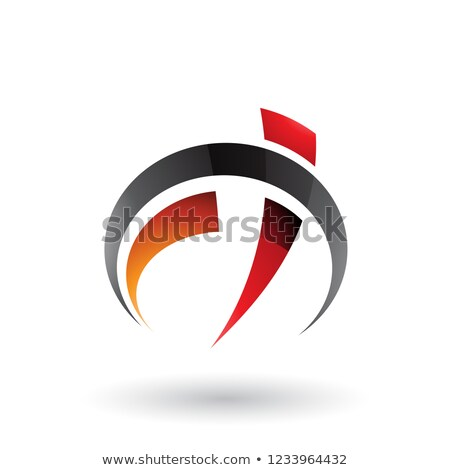 black red and orange car gauge shaped letter f and t vector illu stock photo © cidepix