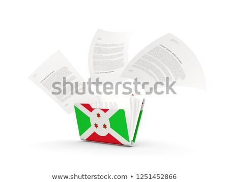 Dobrador bandeira Burundi arquivos isolado branco Foto stock © MikhailMishchenko