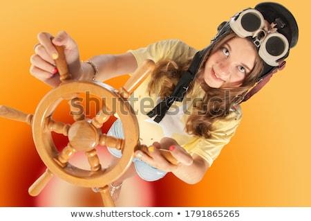 Bobo menina marinheiro seis jovem Foto stock © JamiRae