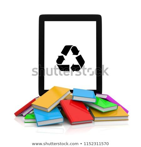 Riciclare simbolo top libri Foto d'archivio © make