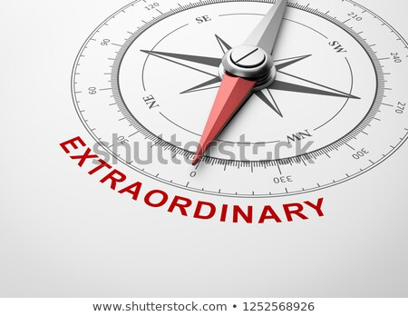 Stock photo: Compass on White Background, Extraordinary Concept