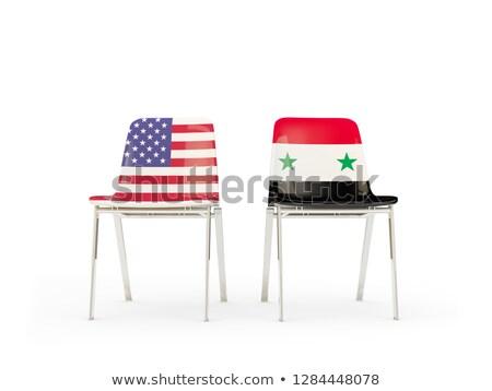EUA · Síria · bandeira · misto · tridimensional · tornar - foto stock © mikhailmishchenko
