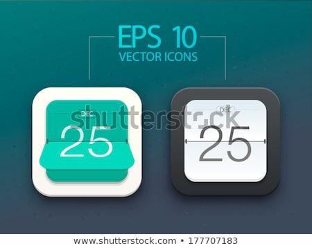 Kalendarza ikona wektora obiektu data Zdjęcia stock © pikepicture