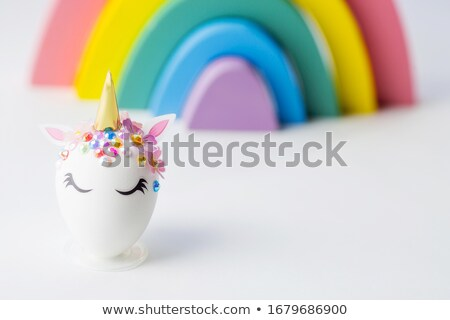 Paskalya yumurtası biçim yumurta Paskalya bahar yüz Stok fotoğraf © furmanphoto