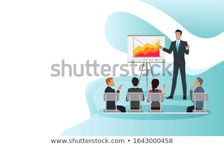 mestre · classe · seminário · apresentação · profissional · conferência - foto stock © robuart