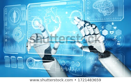 Man Doctor Artificial Hand Illustration Stock photo © lenm