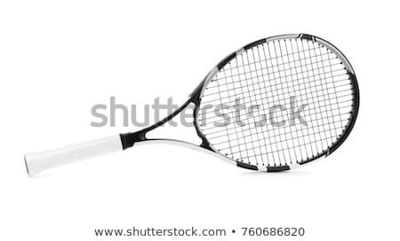 Tennis Racket With Ball On Black Background Stock photo © AndreyPopov