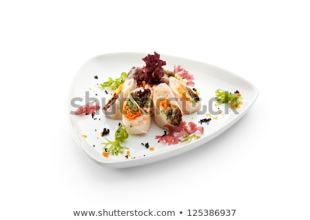 Crab salad with tomatoes, peppers and cheese Stock photo © Melnyk