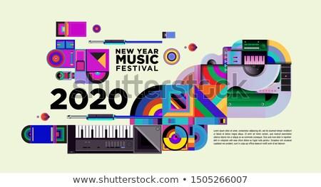 Yılbaşı konser reklam afiş vektör numara Stok fotoğraf © pikepicture