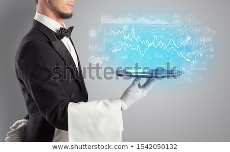 Serving fluctuation concept on a tray Stock photo © ra2studio