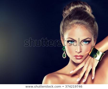 colorido · pérolas · bijoux · feminino · moda - foto stock © serdechny