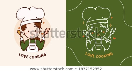 Chef cozinhar padeiro feliz bonito Foto stock © Krisdog