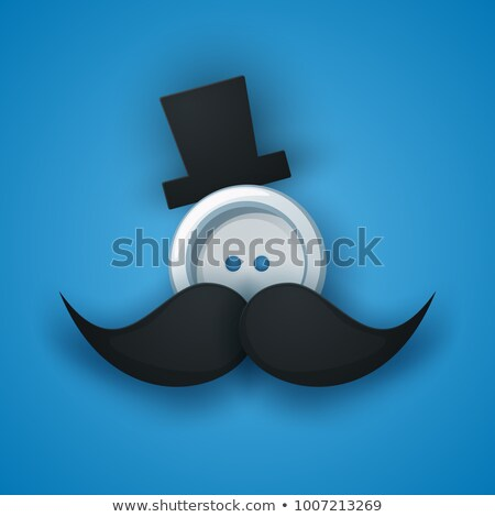 Hat, mustachen, whisker, sewing button. Stock photo © rwgusev