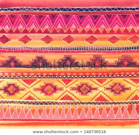 Streszczenie dekoracyjny charakter plemiennych etnicznych kwiat Zdjęcia stock © balabolka
