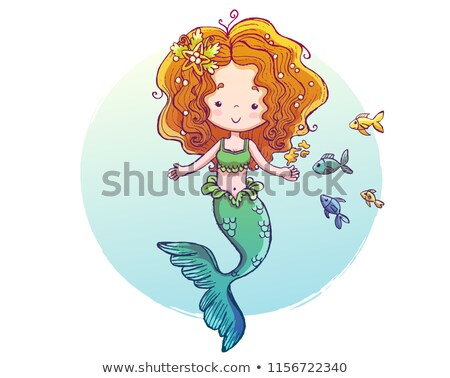 mermaid feeding the fish stock photo © dazdraperma
