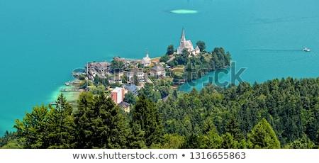Valeur Autriche église ciel horloge arbres Photo stock © borisb17
