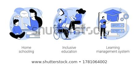 Istruzione formazione vettore metafore internet bookstore Foto d'archivio © RAStudio