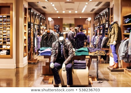 Man Shopping on Big Black Friday Sale, Clearance Stock photo © robuart